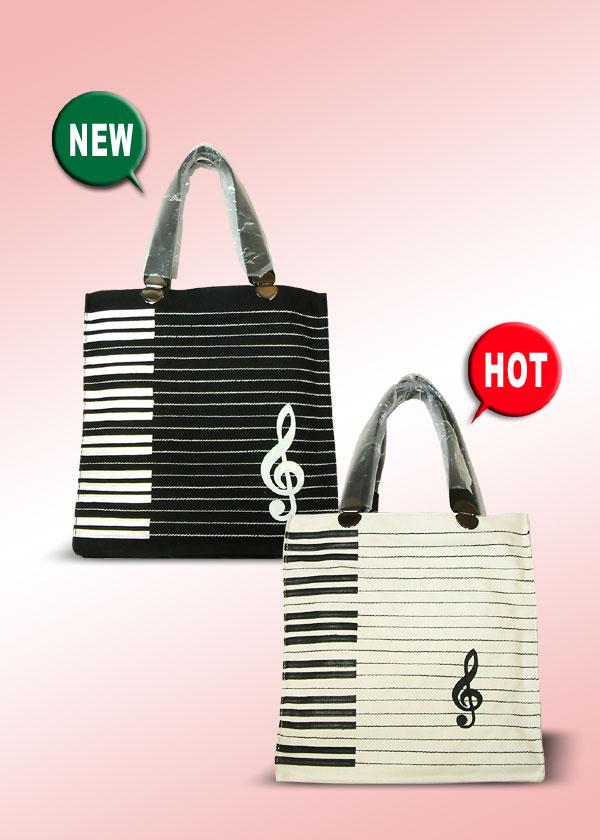 高音谱号及键盘图案帆布手提袋 9951200504120