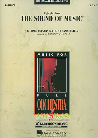 und Of Music 电影 真善美 管弦乐曲演奏套谱 总谱 分谱 Hal.leonard
