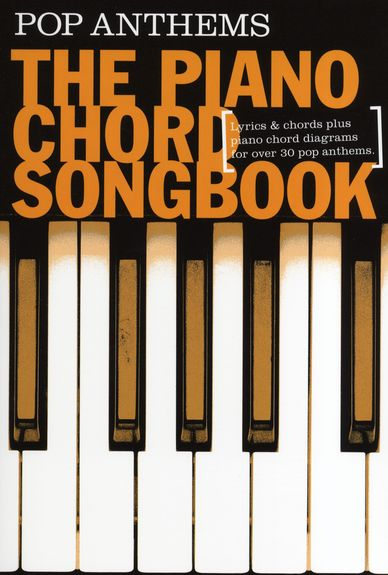 Piano chord songbook pop anthems wise for Piano house anthems