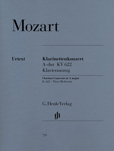 telephone竖笛歌谱-Verlag 乐谱出版公司 Urtex 原典版-Mozart Clarinet Concerto A major